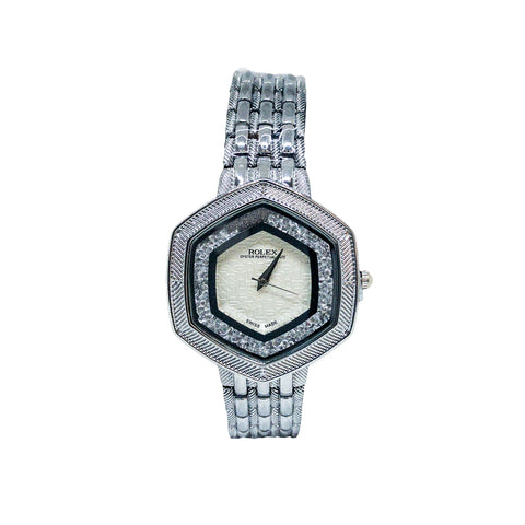 Women's Rolex Oyster Perpetual Diamon Skelton Watch - Replica