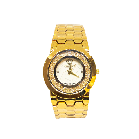 Versace Diamond & Gold Watch - Replica