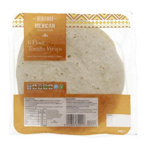 Heritage Mexican Tortilla Wraps 6Pcs Pack