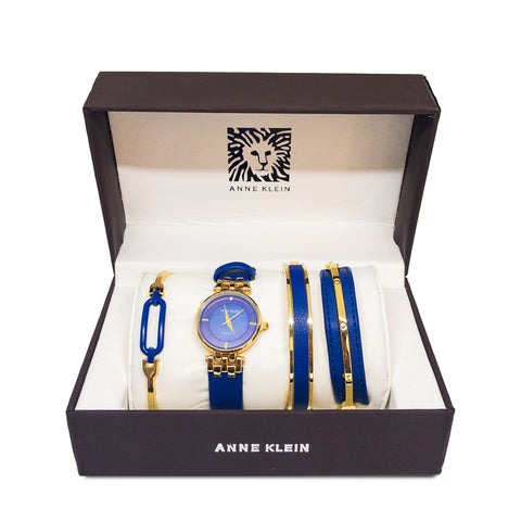 ANNE KLEIN WATCH SET BLUE - Replica - MarkeetEx