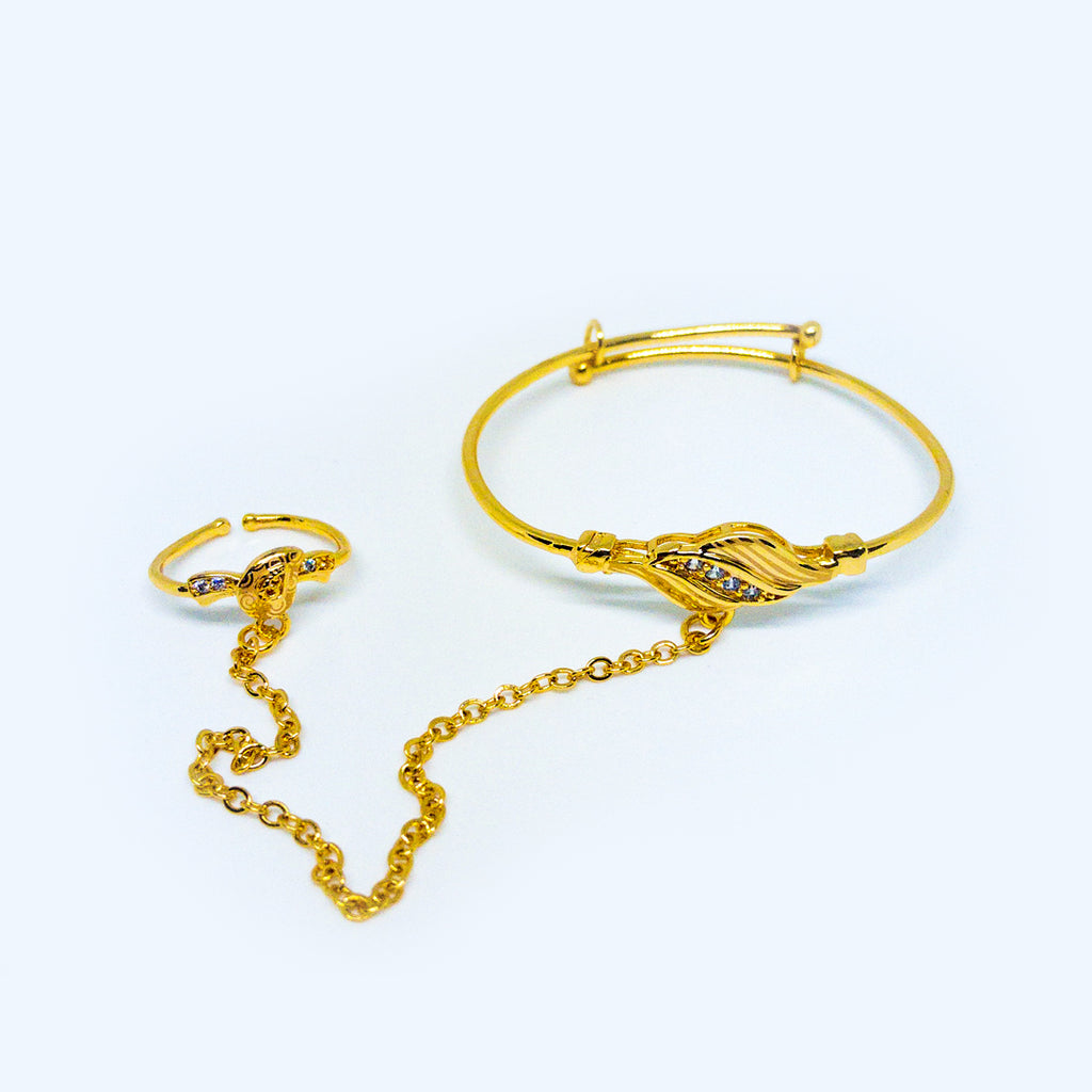 Girl Hand Chain Bracelet - Design #8