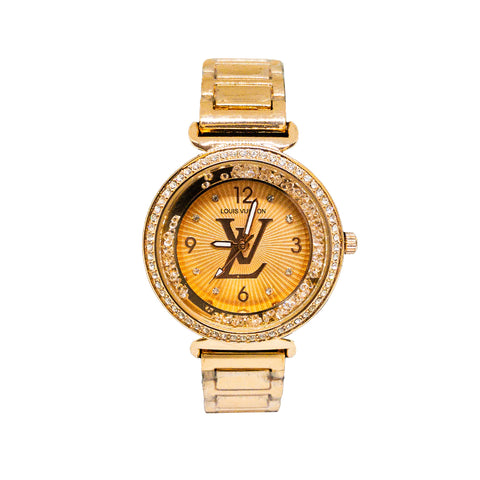 Louis Vuitton Tambour Slim Pink Rose Gold Watch -Replica