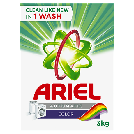 Ariel Automatic Washing Powder Laundry Detergent Color 3kg