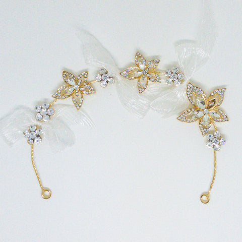 Weddings Hair Accessory Gold - Design #2