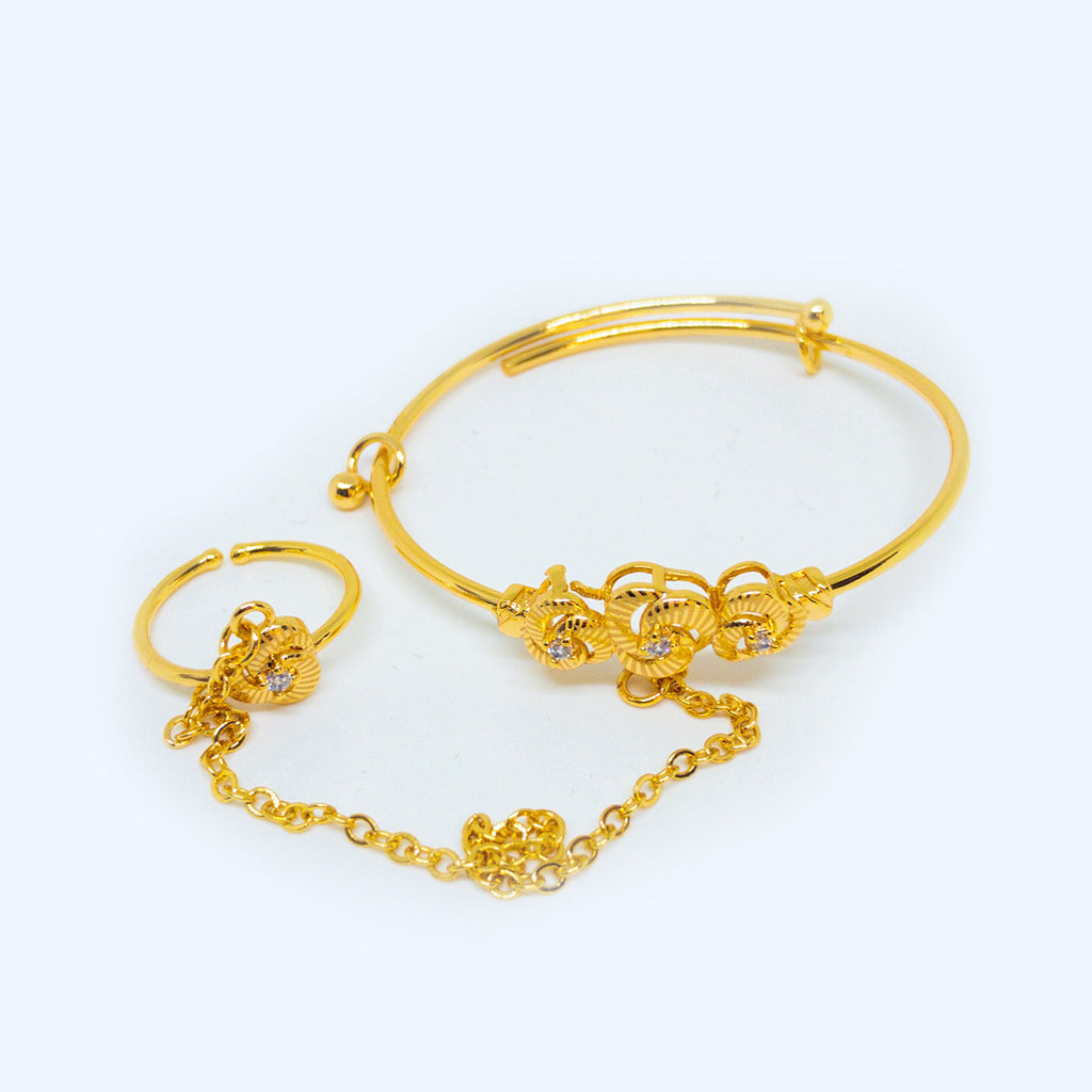 Girl Hand Chain Bracelet - Design #3