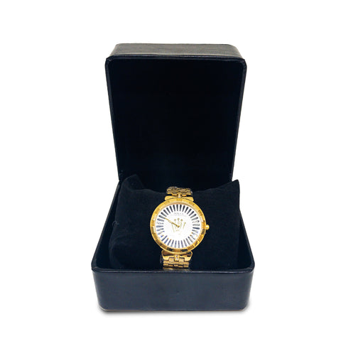 Women's Rolex Oyster Perpetual Yellow Gold Watch With Black Lines - Replica