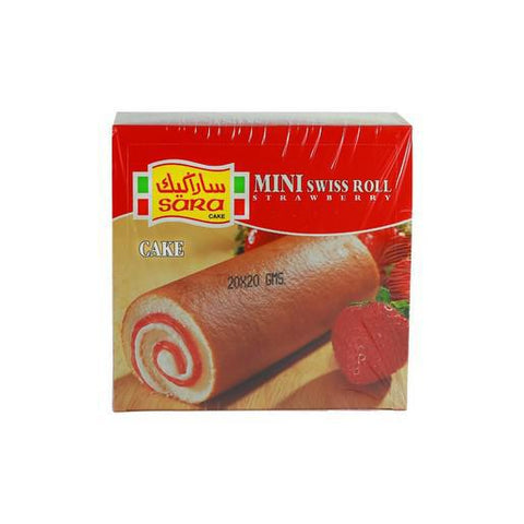 SINGLE MINI ROLLS-STRAWBERRY 20G