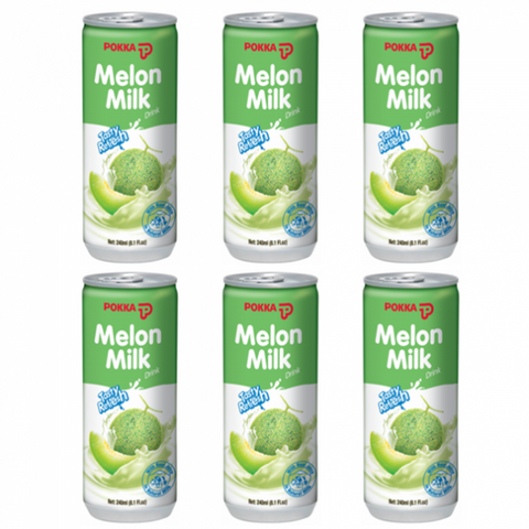 Milk Melon Pokka 240ml X 6pcs - حليب البطيخ بوكا