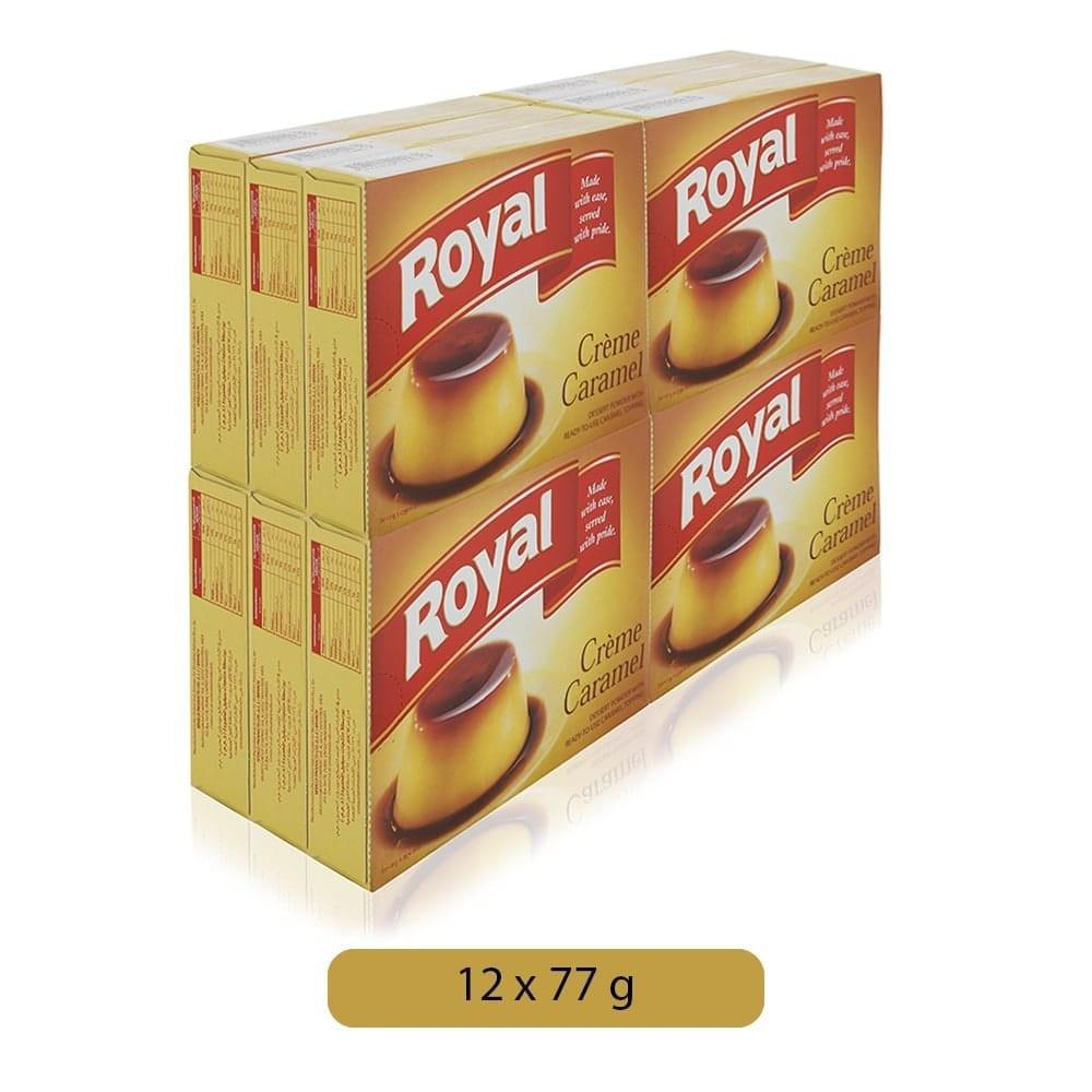 Cream Caramel Royal 12 x 77gm Pack - كريم كراميل رويال - MarkeetEx