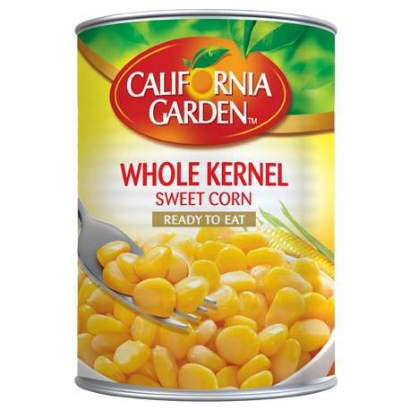 CALIFIORNIA GARDEN WHOLE KERNEL SWEET CORN READY TO EAT 425 GM CAN - MarkeetEx