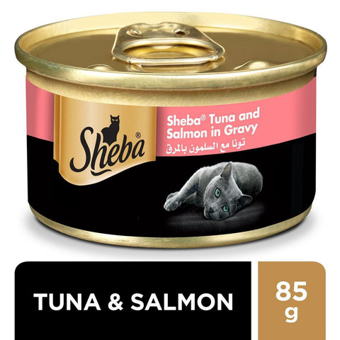 Sheba Tuna and Salmon in Gravy 85gm-50-C
