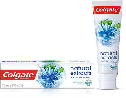 Colgate Toothpaste Natural Extracts Radiant White 75ml - MarkeetEx