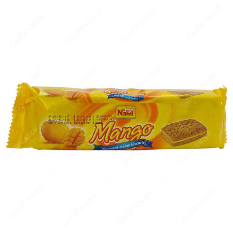 Nabil Mango Flavoured Cream Biscuits 82gm