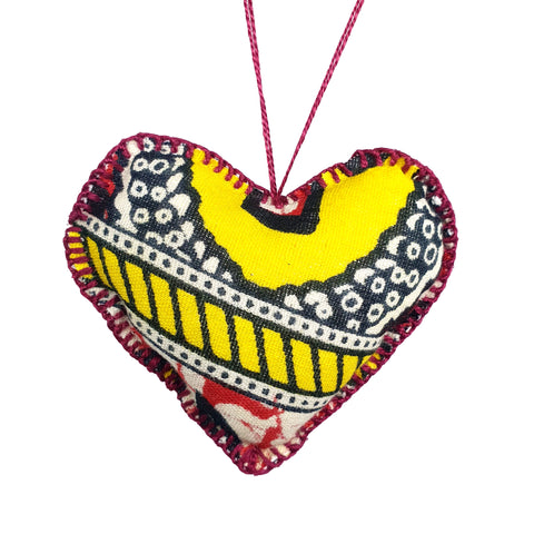 Yellow & Red Stuffed heart 7 cm - MarkeetEx