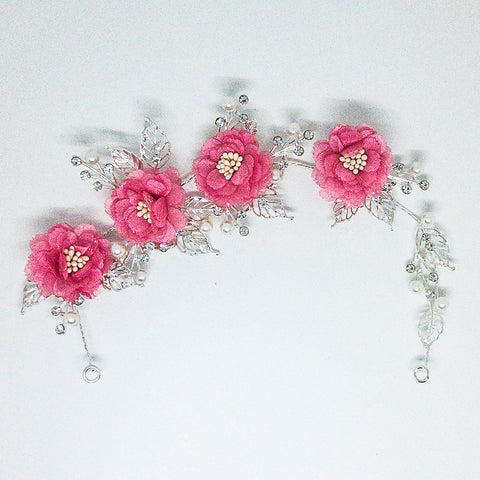 Weddings Hair Accessory Pink- Design #11