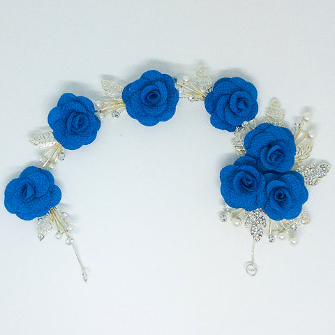 Weddings Hair Accessory Blue - Design #10