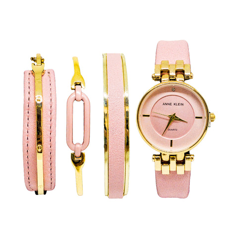 ANNE KLEIN WATCH SET PINK - Replica