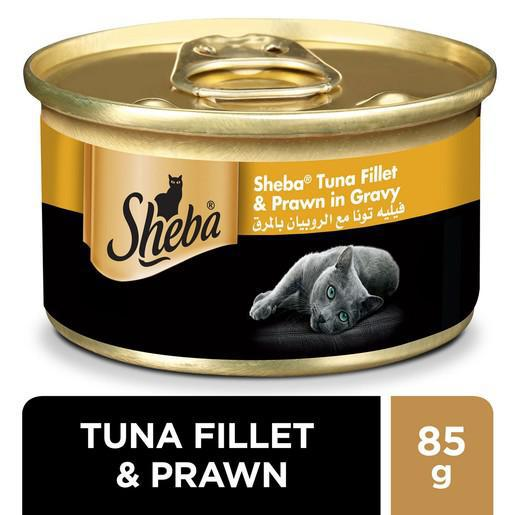 Sheba Tuna Fillet & Prawn in Gravy 85gm - MarkeetEx