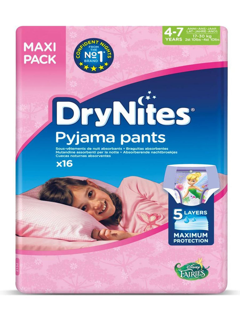 Drynites Pyjama Pants Age 4-7 Years Girl - 17-30 kg -  16 Diapers - MarkeetEx