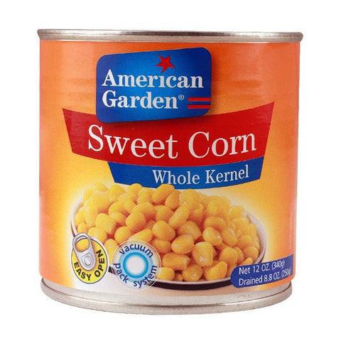 American Garden Sweet Corn Whole Kernel -340gm