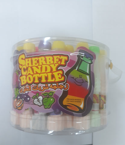 SHERBET CANDY BOTTLE 48 PC