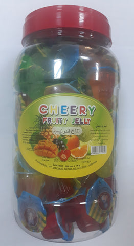 CHERRY FRUITY JELLY 14g X 100