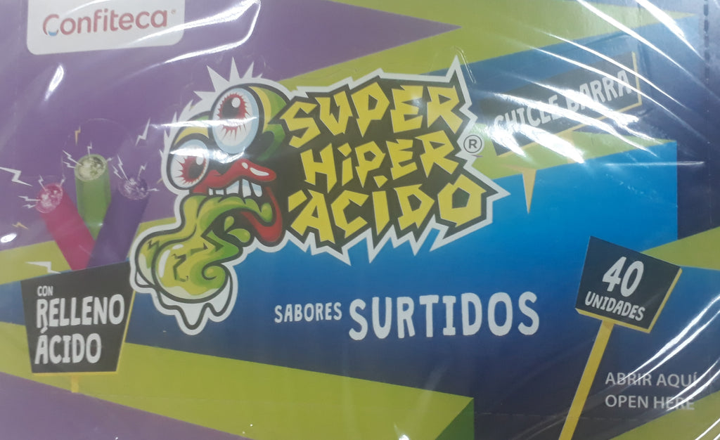 SUPER HYPER ACIDO SABORES SURTIDOS 40 PC PACK