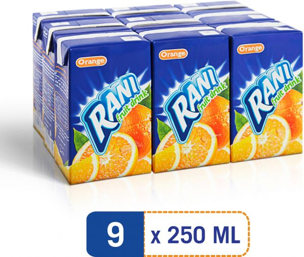 Orange Juice Rani 9X250ML- عصير برتقال راني - MarkeetEx