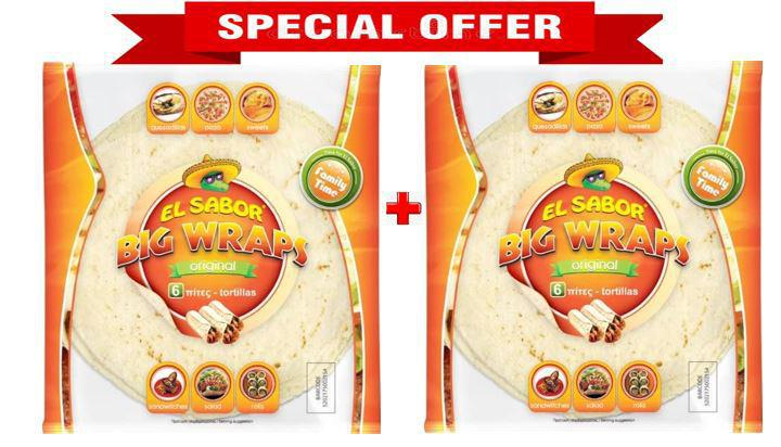 EL SABOR Big Wraps Original - Tortillas - 420gm X 2 Pack