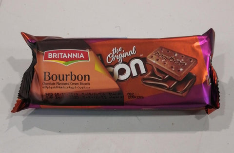 Britannia Bourbon Chocolate Flavored Cream Biscuits 100gm