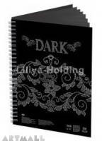 "Notebook ""Dark"", A4, 30 sheets, 160 g/m2 - MarkeetEx"