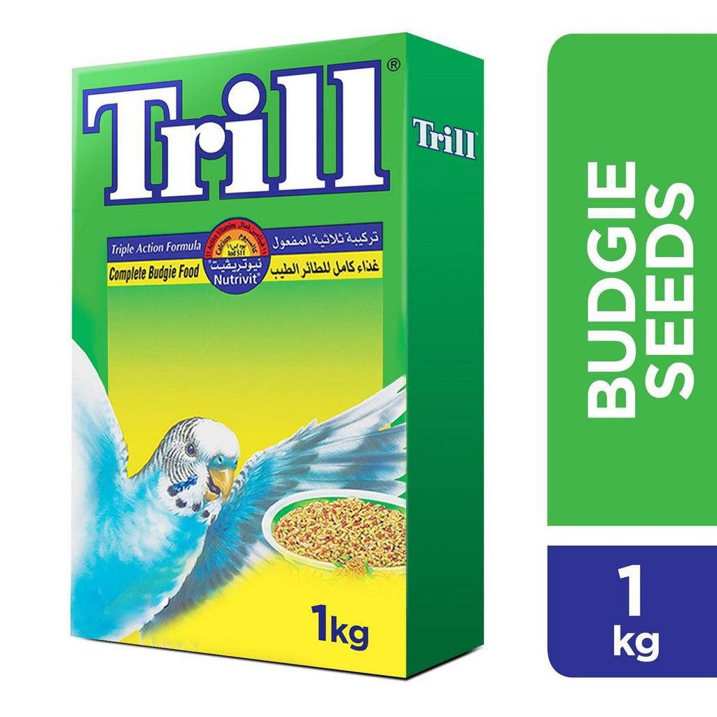 Trill Complete Budgie Seeds  Mix 1kg - MarkeetEx