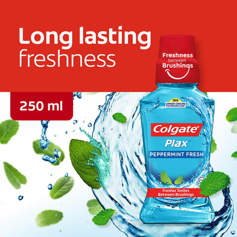 Colgate Plax Peppermint Mouthwash 250ml - MarkeetEx