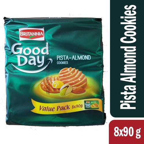 Britannia Good Day Pista Almond Cookies 90gm (6+2 Pack) - MarkeetEx