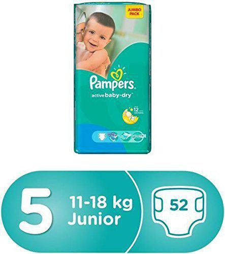 Pampers Baby Dry Diapers Stage 5 - 52 Diapers - MarkeetEx