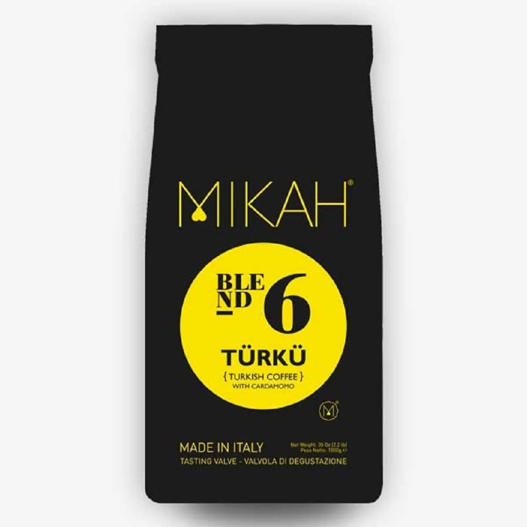 MIKAH TURKISH N.6 COFFEE WITH CARDAMOM 125 GRAMS