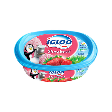 Ice Cream Strawberry IGLOO 1Ltr - MarkeetEx
