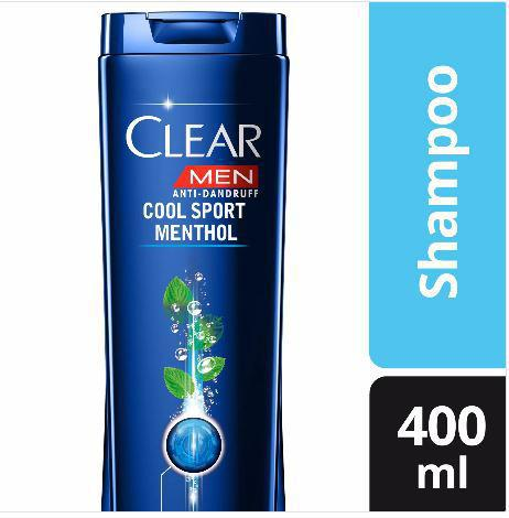 CLEAR MEN SHAMPOO COOL SPORT MENTHOL 400ML