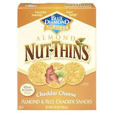 Blue Diamond Almonds - Almond Nut-Thins - Cheddar Cheese 120.5gm - MarkeetEx