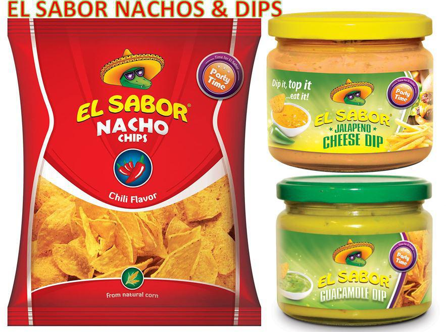 ELSABOR NACHOS AND DIPS CHILLY FLAVOUR  WITH JALAPENO & GUACAMOLE DIPS OFFER PACK - MarkeetEx