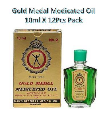Gold Medal Medicated Oil 10ml X 12Pcs Pack
