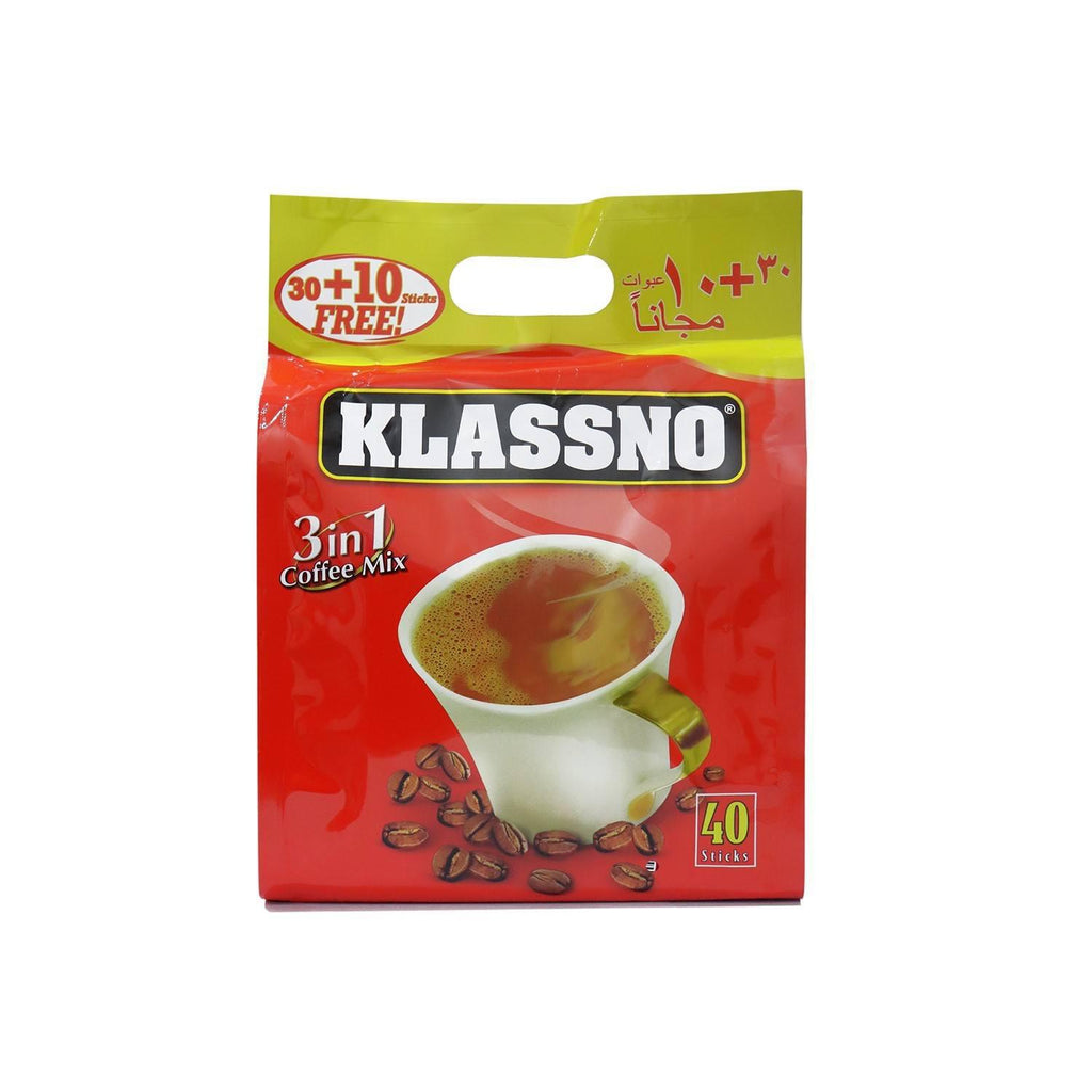 KLASSNO COFFEE 3IN1 20G PK 30+10's