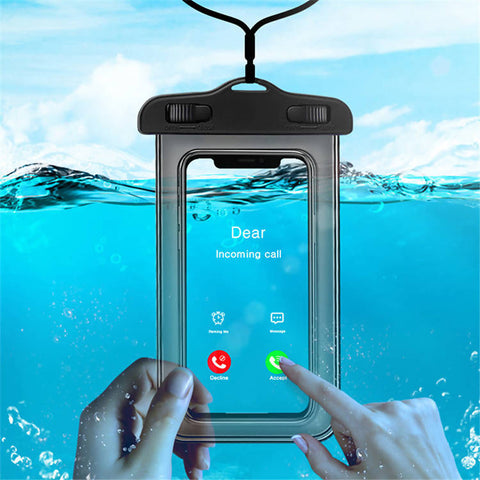 Top Selling Universal Waterproof Bag Case Cover Swimming Beach Dry Pouch For Cell Phone (Black Color) - MarkeetEx