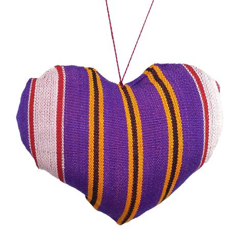Purple Stuffed heart 11 cm - MarkeetEx