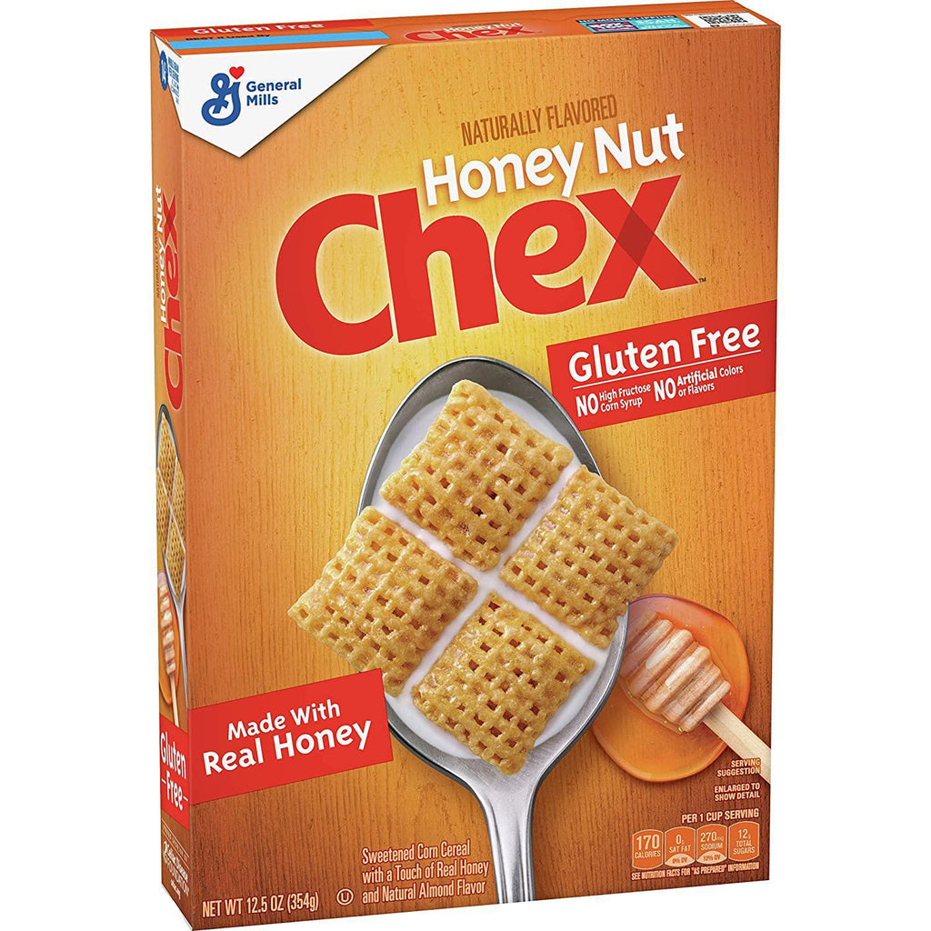 General Mills - Chex, Gluten Free Cereal, Honey Nut 12.5 Oz - 354gm