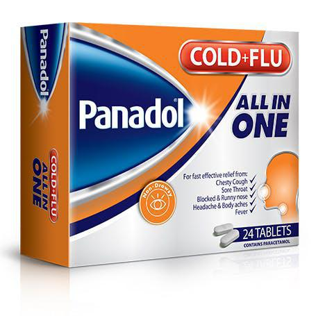 Panadol Cold+Flu All in One - 24 Tablets Pack