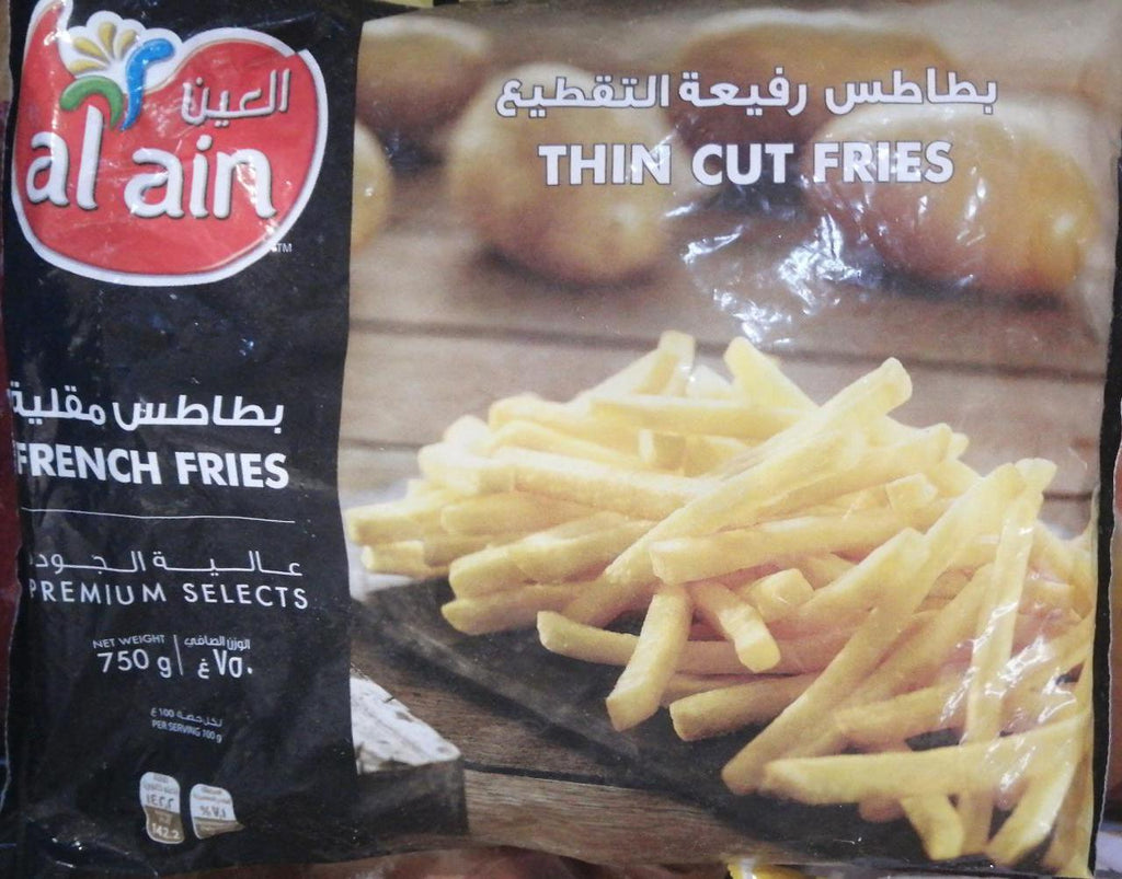 AlAin French Fries Thin Cut 750gm