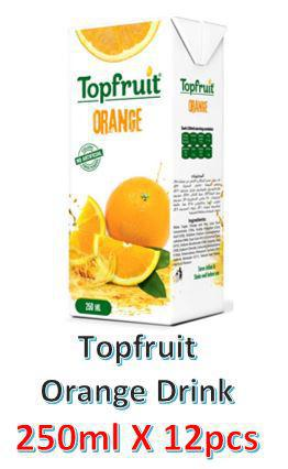 Topfruit Orange Juice Drink 250ml X 12Pcs