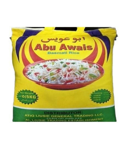 Abu Awais Long Grain White Rice 5kg - MarkeetEx