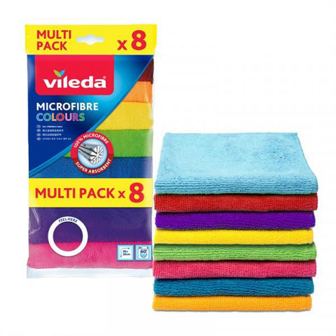 Vileda Microfibre Colors  - All Purpose Cloths - MarkeetEx